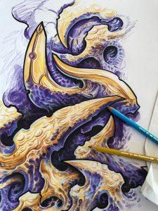 biomech sketch by Heinz graynd
